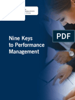 Nine Keys to Performance Management