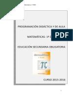 1 Programa Matematicas Indice 1º Eso