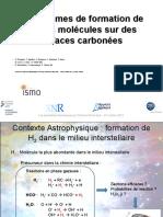 930Mécanismes de Formation de Petites Molécules Sur Des Surfaces Carbonnées