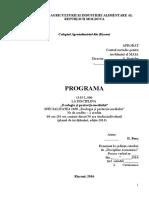 Programa Ecologie Facultativ MAIA