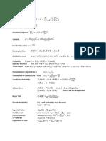 Exam P Formula Sheet PDF