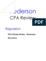 Pederson CPA Review REG Study Notes Business Structure