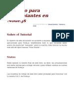 Libro Para Principiantes en Node_js