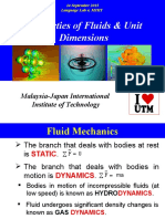 Properties of Fluids Unit Dimensions