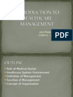 k8 Introduction to Healthcare Management