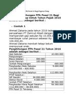 Contoh Perhitungan PPh Pasal 21 Bagi Pegawai Tetap