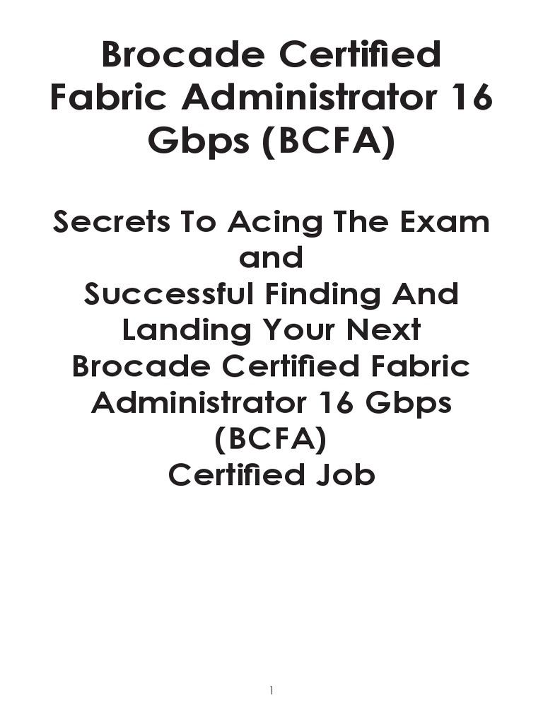 Bcfa Certification Test Assessment