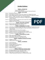 Detailed Syllabus