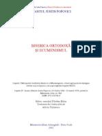 Sf. Iustin Popovici - Biserica Ortodoxă şi ecumenismul