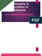 Curriculum in Malaysia