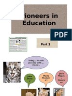 Pioneers in Education-part2