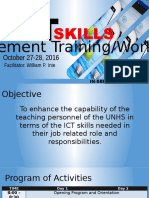 ICT Skills Enhancement Training