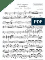201510308 Manuel de Falla Danse Espagnole Violin Sheets