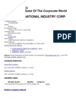Glory International Industry Corp