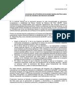 Posición de economistas PUCP sobre designación de miembros del Directorio BCRP (2016)