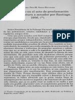 Eduardo Frei Discurso en El Acto de Proclamación de Su Candidatura a Senador Por Santiago