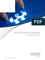 Guide to Mergers Acquisitions FAQs Protiviti