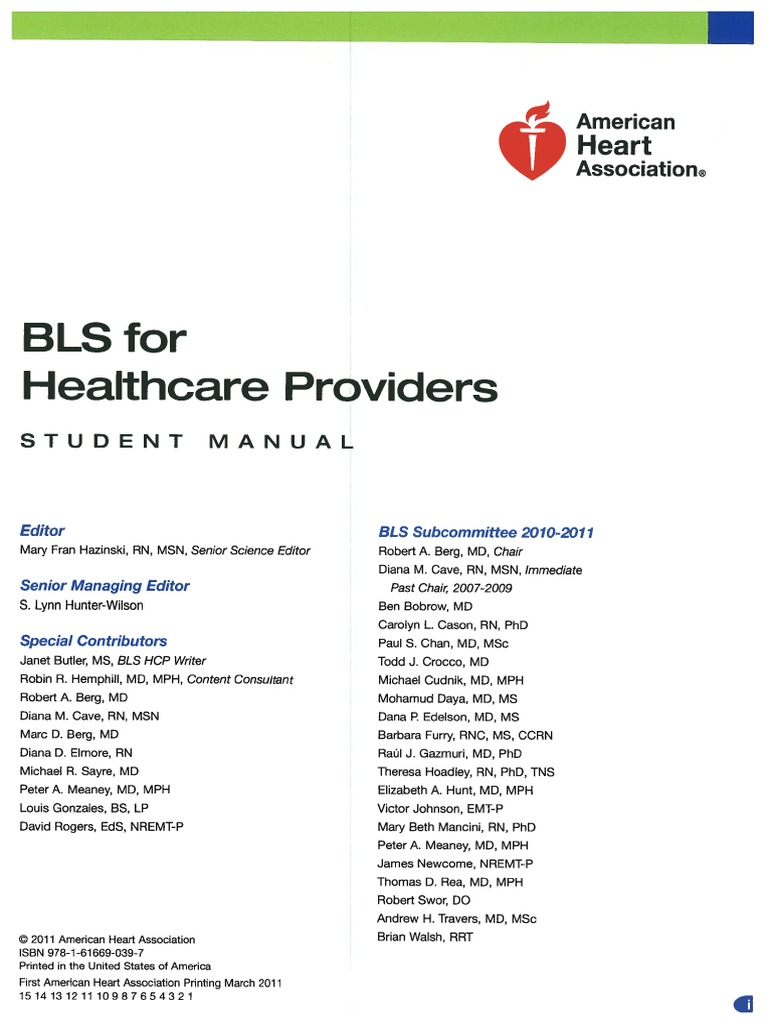Bls Healthcare Providers | Cardiopulmonary Resuscitation | Cardiac Arrest