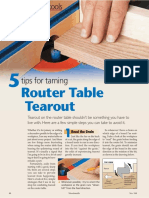 Woodsmith 184 Avoiding Router Table Tearout