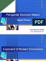 Pengantar Ekonomi Makro Sesi Kedua Ver 2 5 Sep 2012