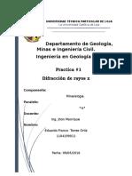 Informe #1 Difraccion de Rayos x