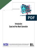 Quad and Hex mesh generation