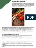 Por Qué Consumir Alimentos Orgánicos