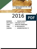 MONOGRAFIA DE LA LEY DE PRESUPUESTO 2016