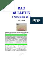 Bulletin 161101 (PDF Edition)