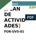 For-uvs-01 Plan de Actividades v2 2015-09-23
