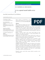 The Meaning of Recovery in a Regional Mental Health Service