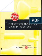 GE Photographic Lamp Guide 1958