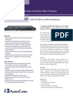 LTRT-18206 AudioCodes Enhanced Media Gateway and SBA for Microsoft Lync Installation and Configuration Manual