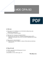 Answers to CD 06 OPA90