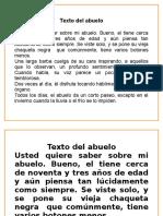 Texto Del Abuelo (Naranjo)