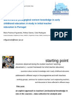 PCK in Early Childhood Education