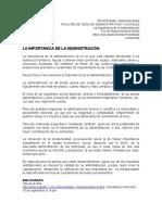 2ndo Trabajo Admon. 10 Sep, La Importancia de La Admon.