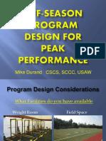 Mike Durand-WIAA Off-Season Program Design for Peak Performance