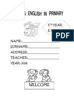 Studying English in Primary 5° 2016