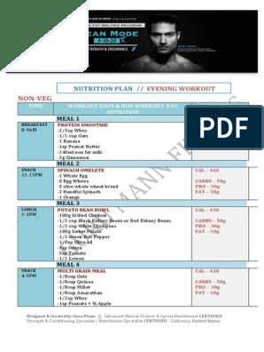 fat loss diet plan for male pdf