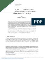 Keynes Mill and Say s Law the Legitimate Case Keynes Didn t Make Against j s Mill
