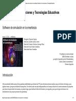 Software de Simulación en La Enseñanza ...Omunicaciones y Tecnologías Educativas