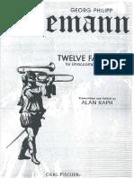 12 Fantasies Telemann
