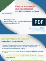 características de investigação realizada pro professores na formação inicial