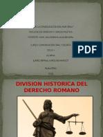 Diapositiva - Division Historica Del Derecho Romano