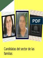 Candidatas del sector de las familias
