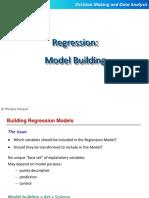 Slides Set 3 -Building Regression Models