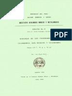 Geología - Cuadrangulo de Cajamarca %2815f%29%2C San Marcos %2815g%29 y Cajabamba %2816g%29%2C1980