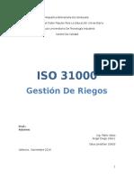 gestión  de Riesgo ISO 31000:2009