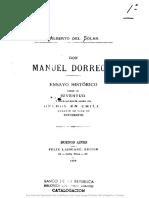 Alberto del Solar - Don Manuel Dorrego Ensayo Histórico Sobre Su Juventud y Especialmente Sobre Sus Hechos en Chile Durante Su Vida de Estudiante